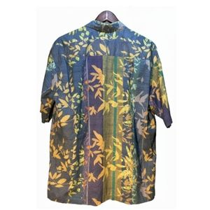 Tori Richard Shirts - Tori Richard Blue Green Hawaiian Shirt Size XL